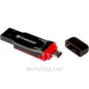 Флеш-накопитель USB 8GB Transcend JetFlash 340 OTG (TS8GJF340), код 71882 фото