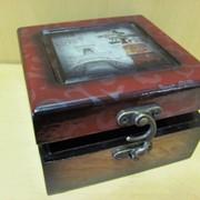 Шкатулка квадратная Мировые шедевры-лаковая /большая/, арт. 12061/1 фото