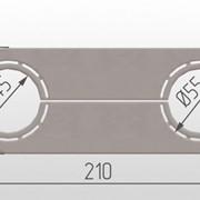 Обвод трубы, пластина L=210 45/55 мм фото