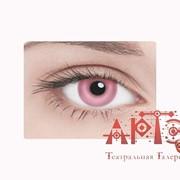Линзы контактные неоновые, розовые фото