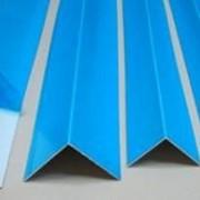 Углы ПВХ в синей пленке фото