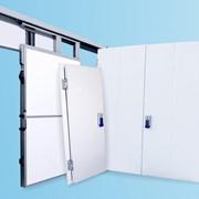 Ворота откатные холодильные/технологические для производств и складов фотография