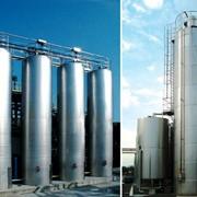 Силосы из нержавеющей стали для хранения сухих сыпучих, порошкообразных и гранулированных пищевых и непищевых продуктов фото