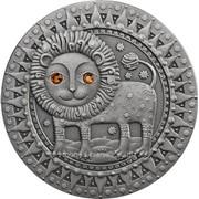 Зодиак. Лев - серебряная монета (Беларусь) фото