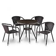Комплект плетеной мебели T283ANT/Y137C-W51 Brown 4Pcs фото