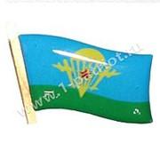 """Знак фрачный """"Флаг ВДВ"""" малый, сине-зеленый фото"""