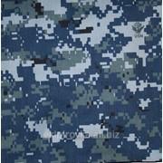 Смесовая ткань расцветки navy digital camouflage. фото