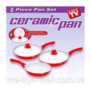 """Набор керамических сковород """"Ceramic pan"""" 3 шт. фото"""
