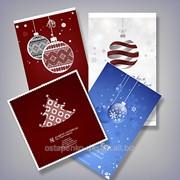 Дизайн новогодних и рождественских открыток 2016 фото