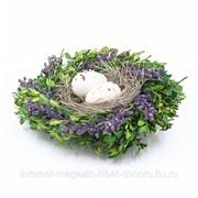 Изделие декоративное Гнездо пасхальное, L18 W16 H5 см фото