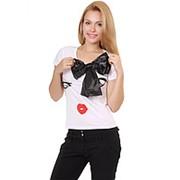 Футболка женская поцелуй белая XL фото