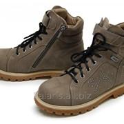 Коричневые замшевые ботинки, арт. 1796-220816 фото