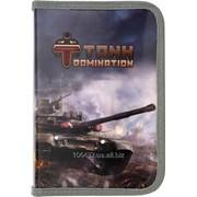 Пенал без наполнения на 1 отделение с двумя отворотами Tank Domination TD15-622K 29704 фото