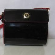 Кожаная маленькая сумочка черный цвет Farfalla Rosso фото