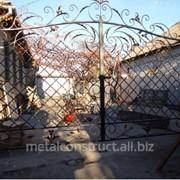 Ворота кованые с ручным управлением фото