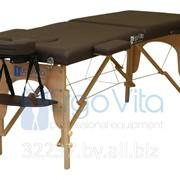 Складной массажный стол деревянный ErgoVita CLASSIC (2-х секционный, коричневый) фото