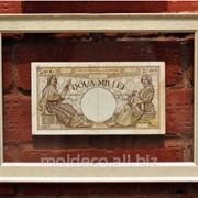 Банкноты в рамке из итальянского багета фото