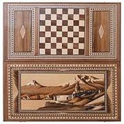 Нарды «Церковь у Арарата» инкрустация + орнамент, Zeynalyan фото
