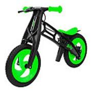 Велобалансир-беговел Hobby-bike FLY В черная оса Plastic kiwi/black В-шины волна фото