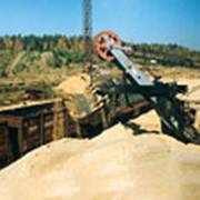 Поставка песка в сухом виде. фото