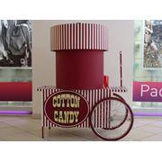 Тележки сахарной ваты для работы внутри помещений фото