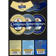 Этикетки с нанесением печати на металлизированную поверхность - упаковка картонная, металлизированная и пластиковая для пищевой промышленности / пиво, вода, ликеро-водочные изделия фото