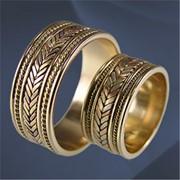 Кольцо обручальные золото фото
