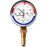 Термоманометр 80мм t-120* P-0,6 ТМТБ-31Р снизу фото