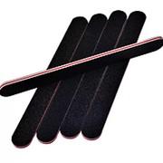 Пилка 183421 прямая черная, основа EVA, грит 100 / 180 см_17.5 в уп.50 шт. ( цена за 1 шт.) фото