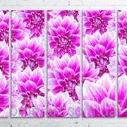 Модульна картина на полотні Жоржини код КМ100150(150)-063 фото