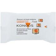 Влажные салфетки для экранов в мягкой упаковке KSN-15 - 15шт. Konoos фото