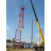 Строительство базовых станций мобильной связи. фото