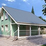 Проект дома из профилированного бруса 8,0 х 8,5 м «Никитилово» фото