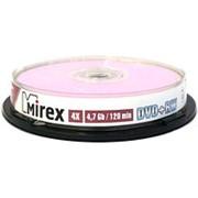 Оптический диск DVD плюс RW 4.7 Гб Mirex 4-ск. в тубе 10шт. многократный фото
