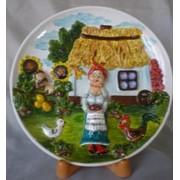 Тарелка керамическая фото