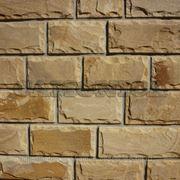 Плитка из натурального камня песчаника бежево-коричневого скоба 100, 140 мм фото