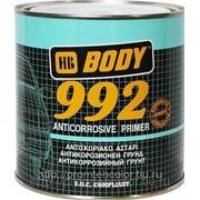 Грунт BODY 992 1К антикоррозийный. Черный 5кг. фото
