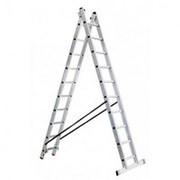 Двухсекционная профессиональная лестница Alpos 40-12 фото