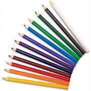 Карандаш 24 цветов Пластик божьи коровки, 32599 фото