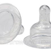 Набор из 2-х сосок 9+ Dr. Brown's Natural Flow® к бутылочкам с широким горлышком фото