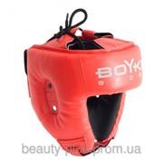 Шлем боксерский BOYKO-SPORT №1 кожа красный фото