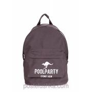 Рюкзак Poolparty backpack-kangaroo Серый фото