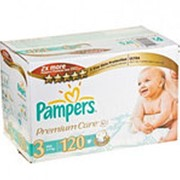 Подгузники PAMPERS Premium care midi 3 (4-9кг), 120шт фото