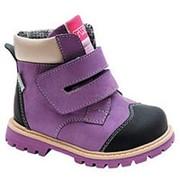 Ботинки ортопедические утепленные, цвет фиолетовый фото