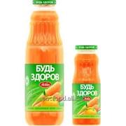 """Нектар с мякотью """"Будь здоров"""" морковно-апельсиновый, объем 0,75/0,25л фото"""