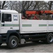 Перевозка грузов краном-манипулятором MAN фото