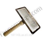 Пуходерка большая с напылением и деревянной ручкой Юни Зоо фото