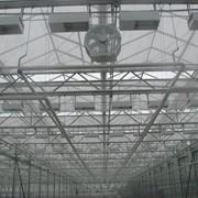 Система рециркуляции воздуха в промышленной теплице фото