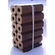 Брикет топливный древесный из опилок смешанных пород сертификат евростандарт фото