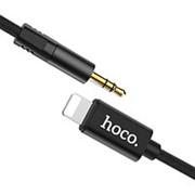 Аудио кабель 3.5мм штекер - Apple Lightning штекер, Hoco UPA13 Black, черный - 1 метр фото